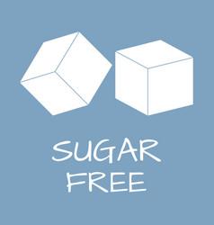 Sugar free label food intolerance symbols vector
