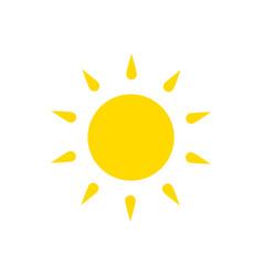 summer symbol sun modern icon sunny circle shape vector image