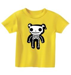 Teddy in bones vector