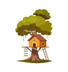 tree house vector image