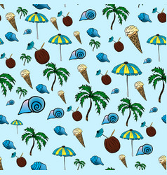 tropical pattern drawing by vector image
