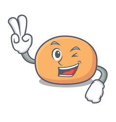 Two finger mochi character cartoon style vector