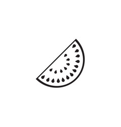 Watermelon solid icon healthy fruit vector