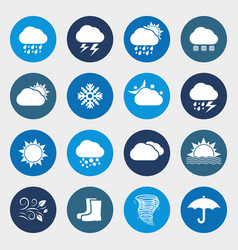 weather forecast icon set vector image