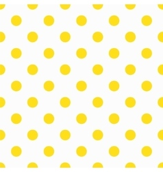 Yellow Polka Dot Pattern vector