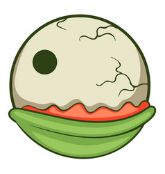 creepy eyeball icon cartoon style vector image