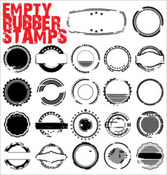 empty grunge rubber stamps vector image vector image