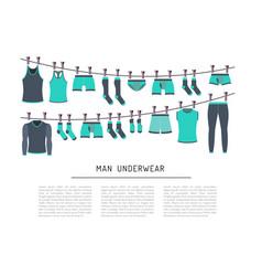 men underwear clothing vector image
