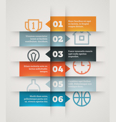 numbered list template vector image