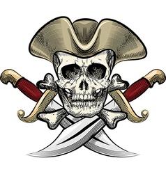 Skull in the hat vector image
