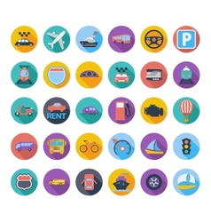 Transportation icon set vector image vector image