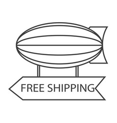 Free shipping blimp balloon vector
