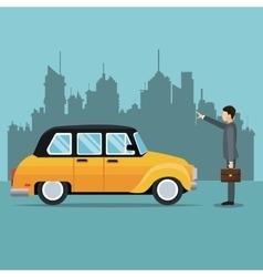 Old cab car passenger user service public vector
