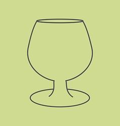 Brandy Cognac Glass vector image
