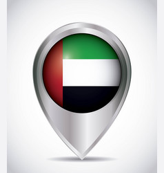 pointer with the national flag of united arab vector image