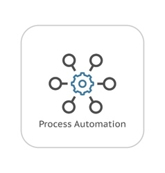 Process Automation Icon Business Concept Flat vector image vector image