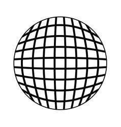 round futuristic virtual technology vector image