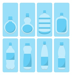 set of water bottle vector image