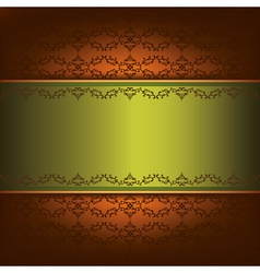 Vintage background with pattern and decorative vector image vector image