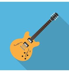 flat guitar 5 vector image vector image