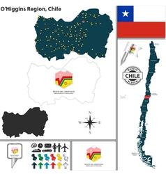 Map of OHiggins vector image