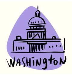 Washington capital USA vector image vector image
