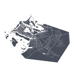 Abu dhabi map detailed map dhabi city vector