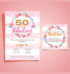 Adult birthday invitation milestone birthday vector