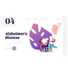 Alzheimer disease website landing page medical vector