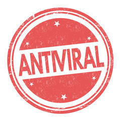 antiviral sign or stamp vector image