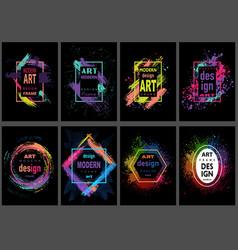 Art graphics frames vector