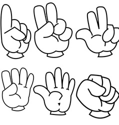 black and white counting hands vector image