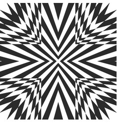 black and white geometric striped background vector image