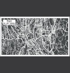 Bogor west java indonesia city map in retro style vector