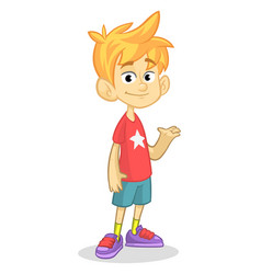 cartoon funny boy vector image