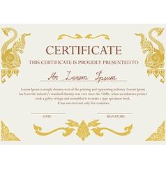 Certificate vector