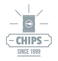 chips logo simple gray style vector image