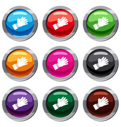 clapping applauding hands set 9 collection vector image