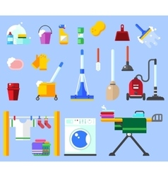 Cleaning set clean service and cleaning vector