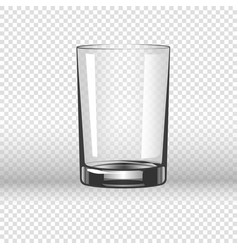 Clear glassy cup for water empty drinking glass vector