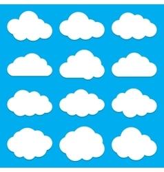 cloud shapes collection set flat cloud icons vector image