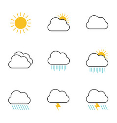 cloud weather design set vector image