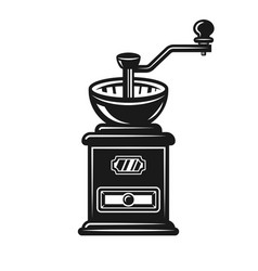 Coffee grinder object or design element vector