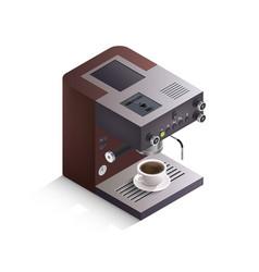 Coffee machine isometric vector