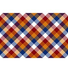 Colored diagonal check seamless fabric texture vector