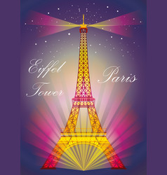 Colorful eiffel tower vector