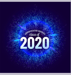 Congratulations graduates 2020 class vector