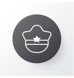 cop cap icon symbol premium quality isolated vector image