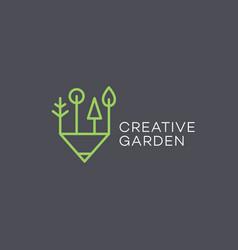 Creative garden logo vector
