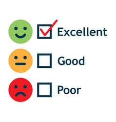 Customer service satisfaction survey form vector